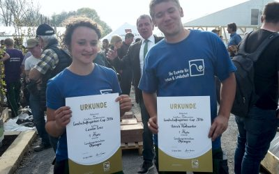 Platz 1 beim Landschaftsgärtnercup 2016 in Öhringen